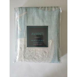 Avanti Sequin Shells Shower Curtain 72 x 72